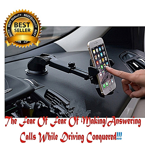 Life Saving Best Car Phone Holder With 360 Degree Rotation.Perfect For Tecno,Samsung,Infinix,iPhone,Gionee ETC.HOW TO USE WATCH VIDEO BELOW!