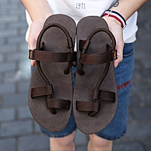 e7e6a93c1 Men  039 s Sandals Light Weight Shock Proof Flip-Flops Brown