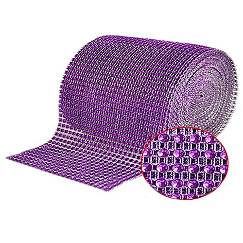"4.75""x1 Yard Shiny Plastic Mesh Wrap Sparkle Ribbon Home Party Decor (Purple)"