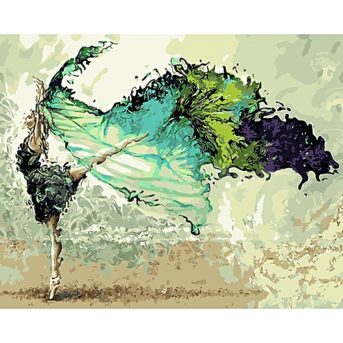Picture Painting By Numbers DIY Digital Canvas Oil Painting Home Decor For Living Room Wall Art Painting Dancer