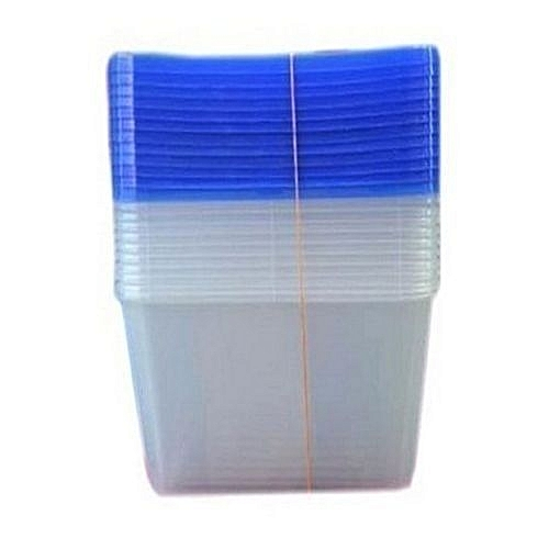 Transparent See Through Disposable Take Away Plate Food Pack Container Bowl With Cover For Party & Home Use- 50 Pieces