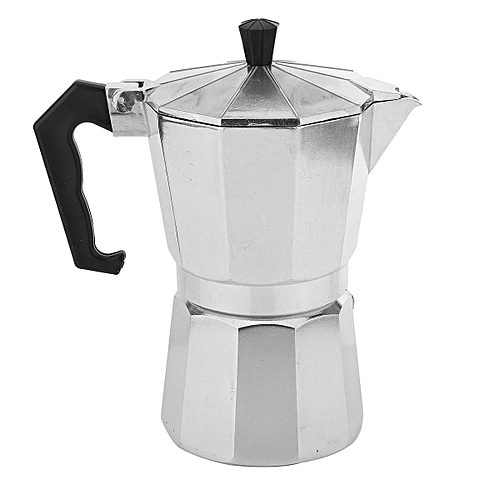 2pcs 3 Cup Moka Express Stovetop Espresso Coffee Maker Pot Latte 6 CUP 300ML