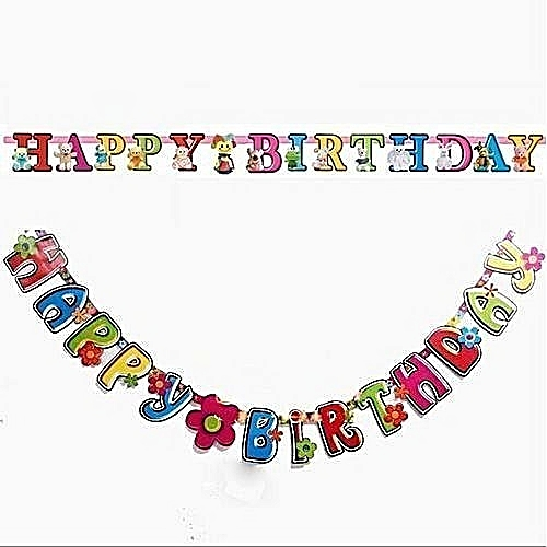 Happy Birthday Banner For Decoration