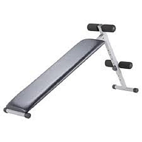 Incline Cushioned Sit-Up Bench With Head Rest - Black