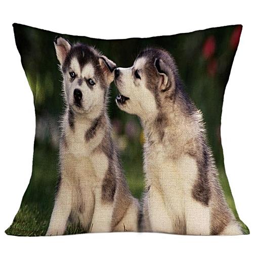 Vintage Cute Dog Pillow Case Sofa Waist Throw Cushion Cover Home Decor