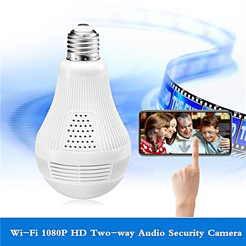 Security Camera 1080P HD Video Bulb Wireless Home Security Surveillance 360 Night Vision Two-way Audio Motion Detection Indoor