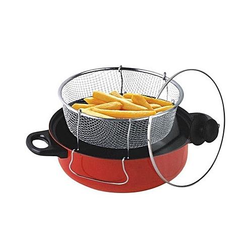 Deep Fryer- Black/ Red (26CM /28CM)