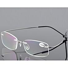 a8446a7a8b11 2018 Titanium 2g Silver Frame Super Light Rimless Ultra Light Reading  Glasses +2.50 (WKXT