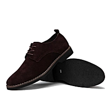 Luxury Suede Leather Boots For Men- Coffee Brown