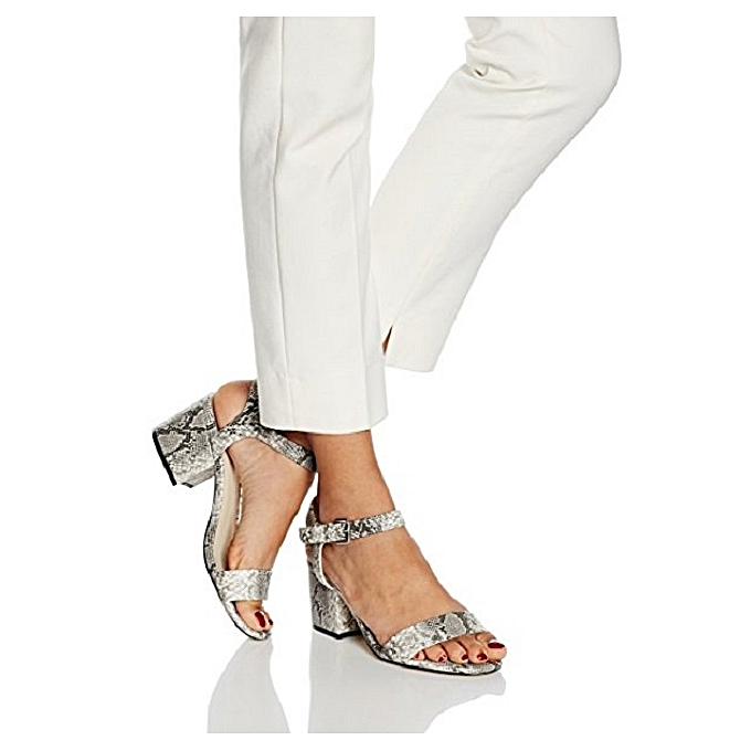 ad437184a Another Pair of Shoes Women s Snake Skin Mid Block Heel Sandals ...