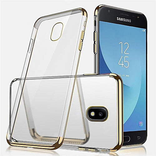 newest 1d982 724bb For Galaxy J7Pro J7 2017 Case, Fashion Crystal Clear 3 Layers Electroplate  Frame Ultra Slim Transparent Plating Phone Cover For Samsung Galaxy J7 Pro  ...