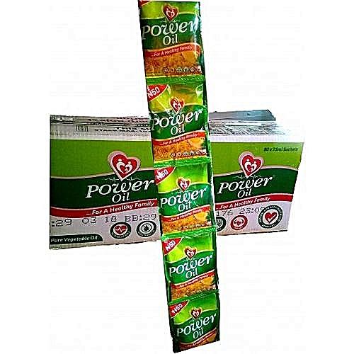 Power Oil Low Cholesterol Satchet Vegetable Oil-80pieces