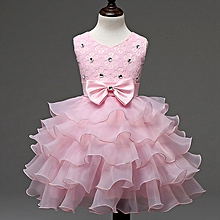 9661332e0c1 Flower Girl Dress Baby Girls Formal Dresses Vestidos Wedding Party Children  Clothes Birthday Clothing - Pink