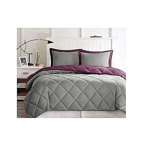 Luxe Linient Solution LUXE Duvet (1 Bedsheet + 4 PillowCovers + 1 Duvet Storage Bag Purple)