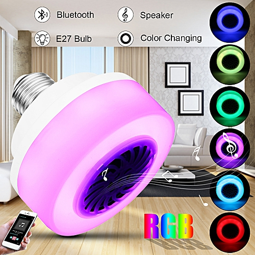 E27 LED Wireless Bluetooth Bulb Light Speaker RGB Music Play Lamp Phone Control