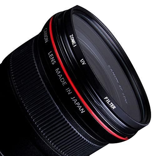 UV Ultra-violet Lens Filter Protector For Sony / Canon / Nikon DSLR Camera-Black