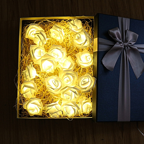 3M Rose Flower LED String Lights Battery Case Decorative For Christmas Wedding