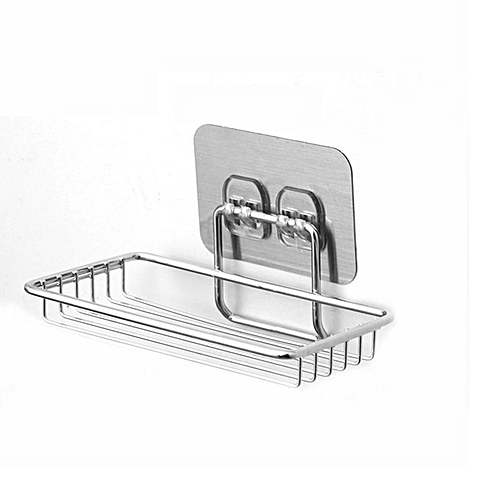 Stainless Steel Strong Suction Cup Bathroom Soap Holder Shower Dish Tray Accessories