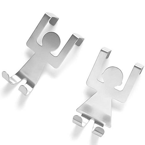 2 Pcs Eleganya Creative Cartoon Human Form Boutique Stainless Steel Hooks