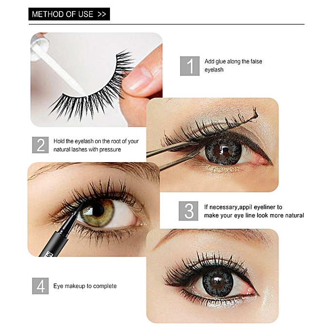 Generic Eyelashes 5piar3d Lashes Natural Thick False Fake Eyelashes
