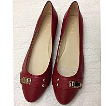 6e8046c0e585 Women  039 s Nozuzana Flat Ballerinas Leather Shoe - Red