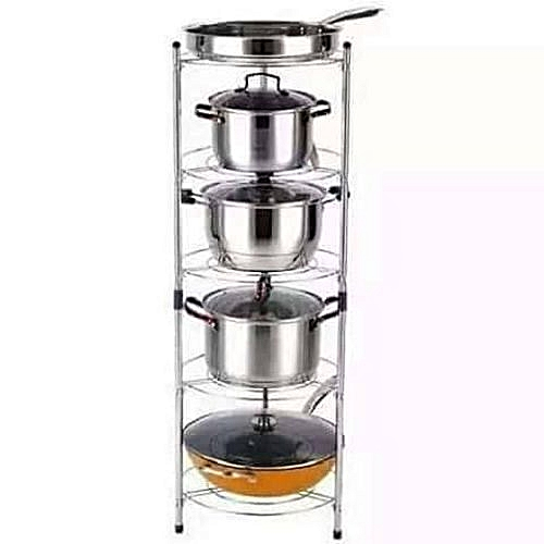 Storage Pot Rack - 5 Tier