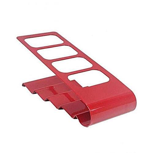 4 Compartments Remote Control Holder And Organizer-Red