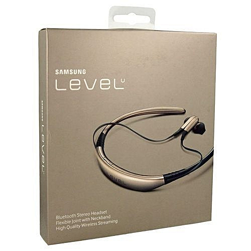 Level U Bluetooth Neckband Earpiece Gold