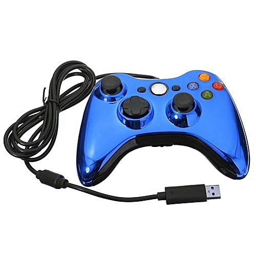Wired USB Game Pad Handle Controller For Microsoft Xbox 360 Windows Laptop PC Blue