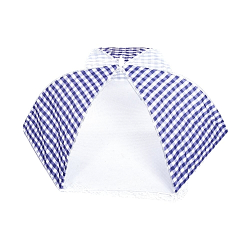 Collapsible Food Umbrella Cover Pop Up Dome Mesh Fly Wasp Insect Net Kitchen Blue
