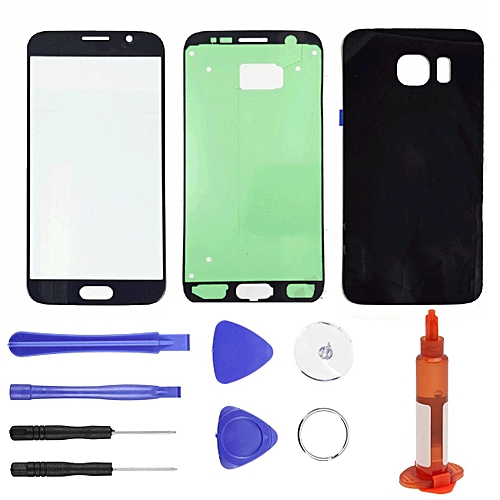 Samsung Galaxy S6 G920 Replacement Front And Back Glass Repair Kit Black