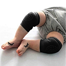 199fd3134d2 DM Newborn Baby Knee Pad Kid Safety Breathable Crawling Elbow  Protective-black