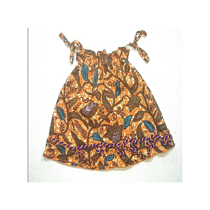 7a9819ea829 Fashion Beautiful Baby Girl African Print Smoky Loop Knotted Dress ...