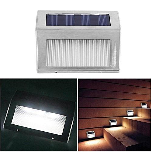 LEBAIQI Stainless Steel Solar 3 LED Outdoor Waterproof Solar Powered Light Wall Light Floor Light