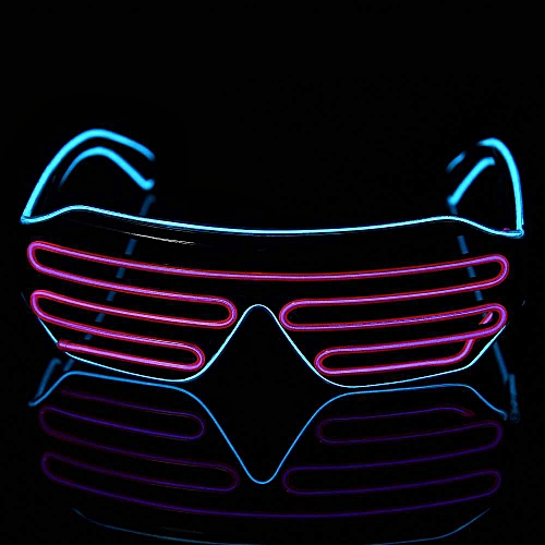 Novelty LED Glasses Flashing Luminous Rave Festival Neon Party Night Wire Light Up Shade Halloween Wedding Birthday Decoration