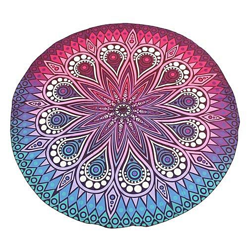 Bohemian Round Mandala Tapestry Beach Towel Rug Blanket Yoga Hippie Throw Mat