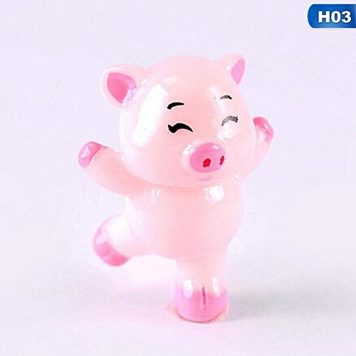Eleganya 2019 New Lovely Piggy Decoration Cartoon Resin Crafts
