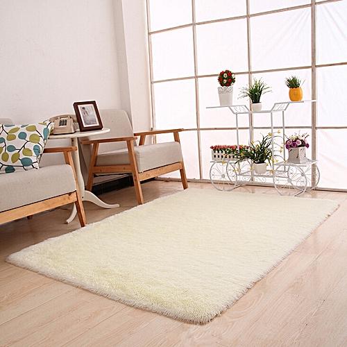 Fluffy Rugs Anti-Skid Shaggy Area Rug Dining Room Bedroom Carpet Floor Mat