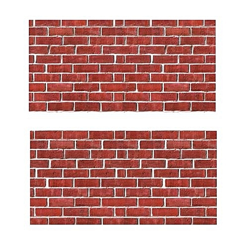Wall Brick Stone Sticker 2PCS Modern 3D For Living Room Bedroom Self-adhesive Wall Sticker 15cm By 40cm