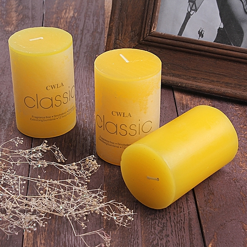 Classic Candle Aromatherapy Pillar Candle Scented Candles Decorative Home Aroma Wax Candles 1 Set(3 PCs/Set)