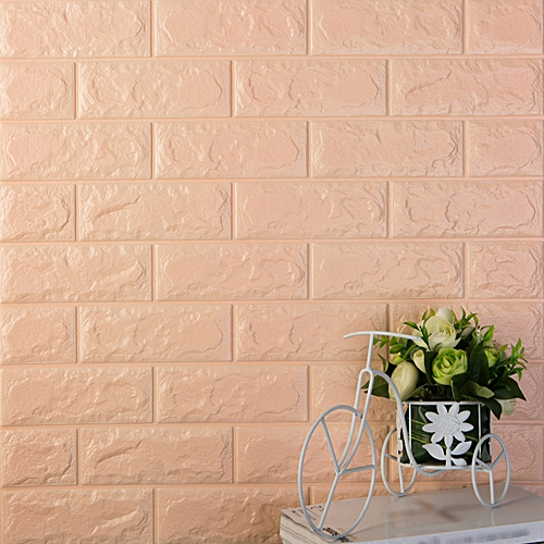 600x300mm PE Foam 3D Wall Stickers Brick Pattern Self Adhesive Anti-collision Water-resistant Moistureproof Wallpaper Home Decor Bedroom Living Room TV Wall Background Decoration