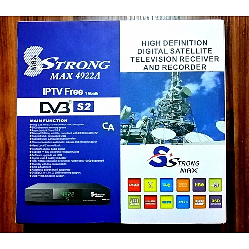 Strong MAX Srt 4922A.Free To Air Decoder,Bet Gaming Broadcast,church Live Broadcast.