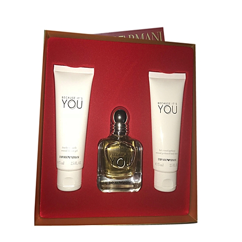 Emporio Armani Because Its You Perfume Gift Set For Ladie Jumiacomng