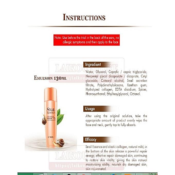 Snail Nutrition Essence Skin Care 5-Piece Set