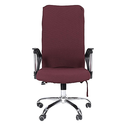 Removable Stretch Swivel Chair Covers Comfortable Slipcovers (Light Burgundy L)