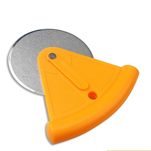 1PC Stainless Steel Pizza Wheels Cutter With PP Cover (Orange)