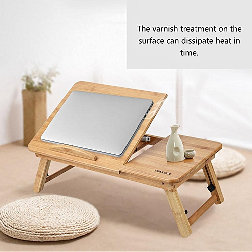 50*30CM Multi-Function Wooden Foldable Computer Laptop Table Desk Adjustable Sofa Bed Office Laptop Stand
