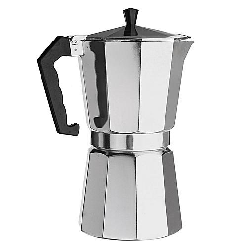 600ML 12 Cup Coffee Moka Pot Stove Percolator Maker Top Expresso Latte Aluminum - Silver