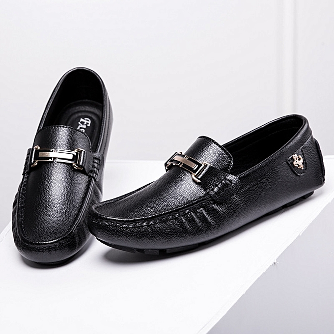 b2bd42262cf Fashion Men Loafers Moccasins Genuine Leather Shoes Flats Loafers Slip-on  Men Driving Shoes Male