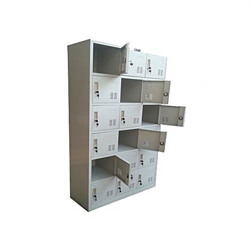 Metal Pigeon Hole Lockers - 18 Compartment